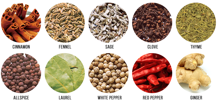 Over 10 kinds of spices