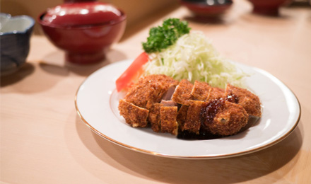 Tonkatsu as a good omen food