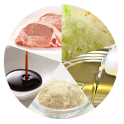 What are the five most vital components for tonkatsu?